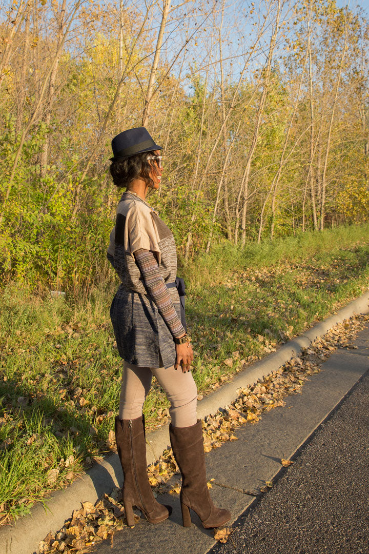 J.Crew-Hat-BCBG-Bracelet-Cape-T-shirt-Leggings-Boots