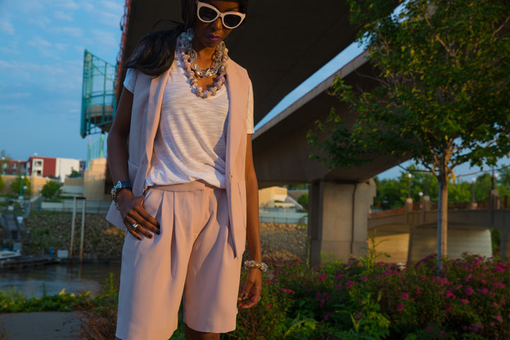 J.Crew-Shorts-Suit-BCBG-T-Shirt-Mombasa-Necklace-by-Dalasini