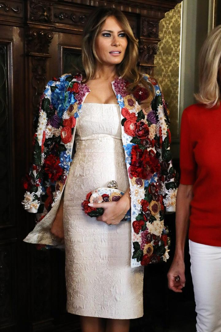 Melania-Trump-in-Dolce-and-Gabbana
