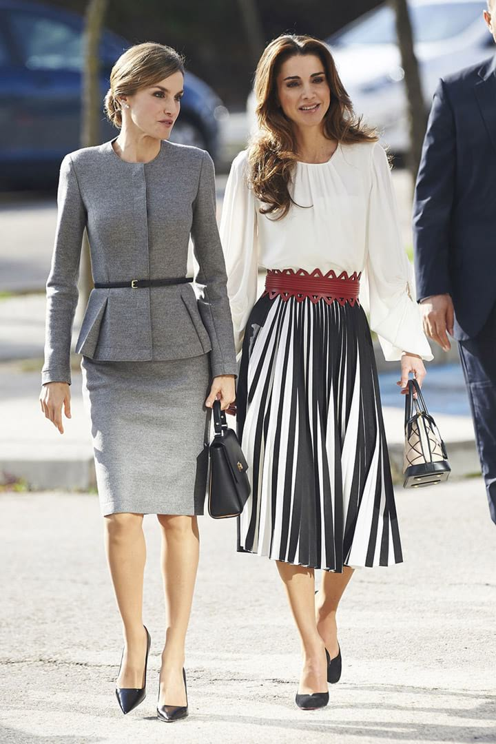 Queen-Rania-of-Jordan-with-Queen-Letizia-of-Spain