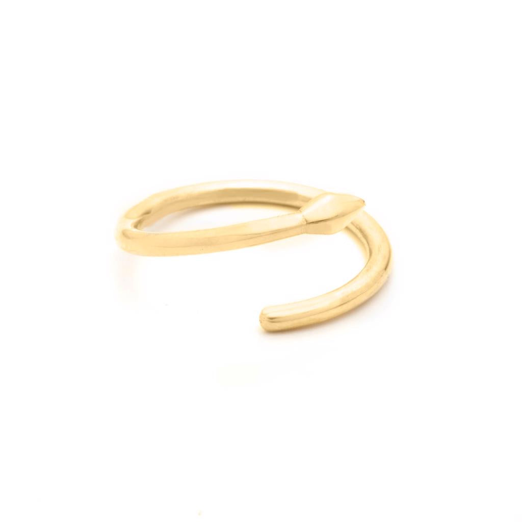 Dalasini Bulawayo Gold Single Tip Wrap Spear Ring Angle
