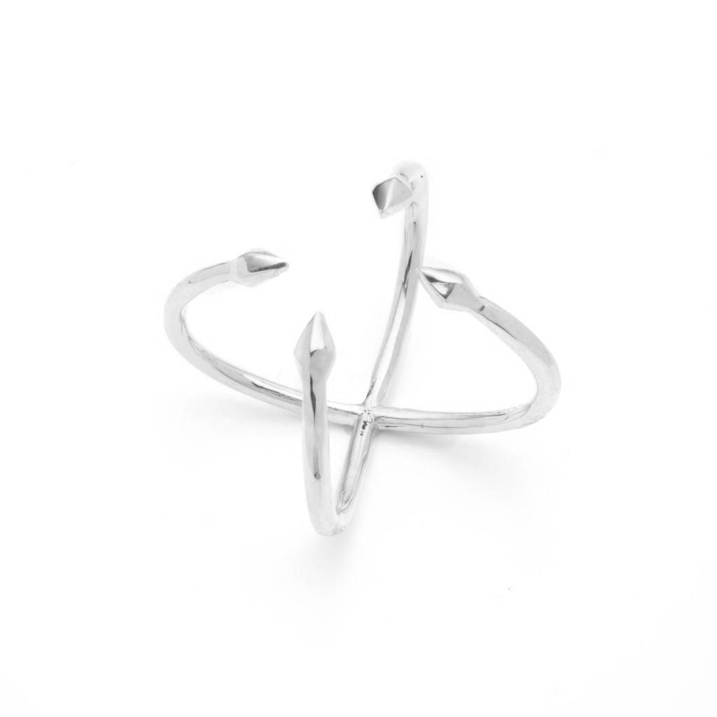 Dalasini Bulawayo Sterling Silver Quadruple Tip Spear Ring Angle