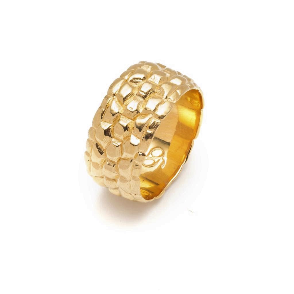 Sahel Gold Tortoise Shell Ring