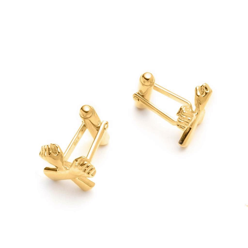 Dalasini Wakanda Gold Cuff Links