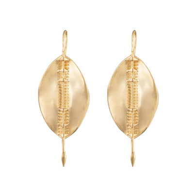 Dalasini Bulawayo Gold Shield Earrings Front