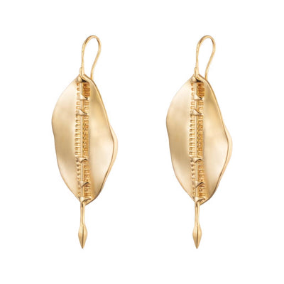 Dalasini Bulawayo Gold Shield Earrings Side
