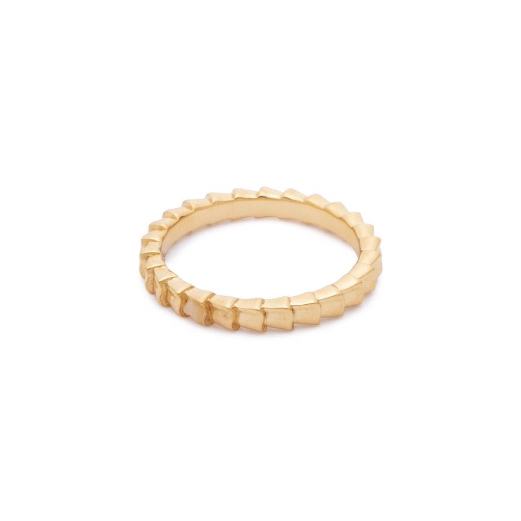 Dalasini Isiro Gold Vertebrae 3MM Ring