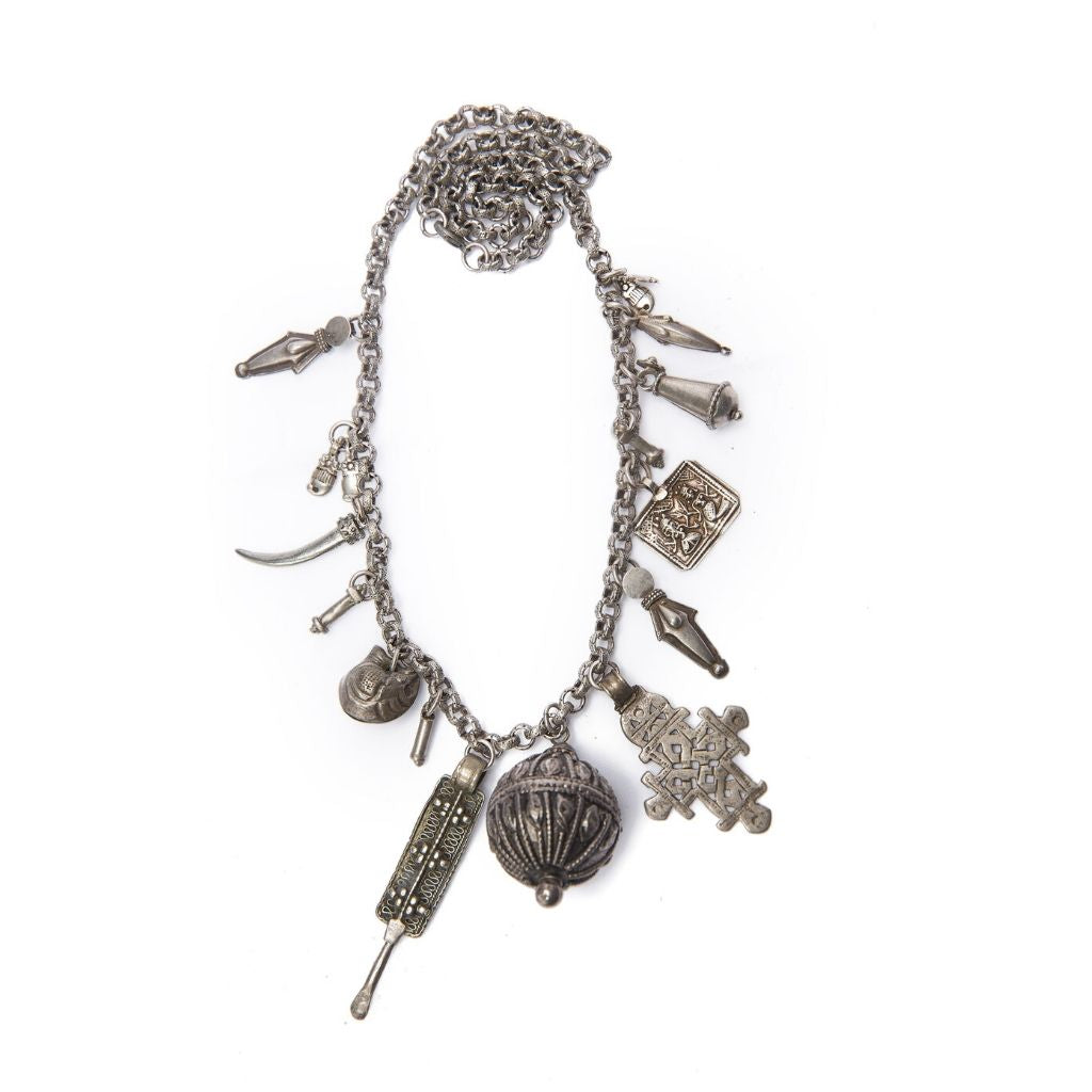 Dalasini Marrakech I Antique Silver Necklace Top