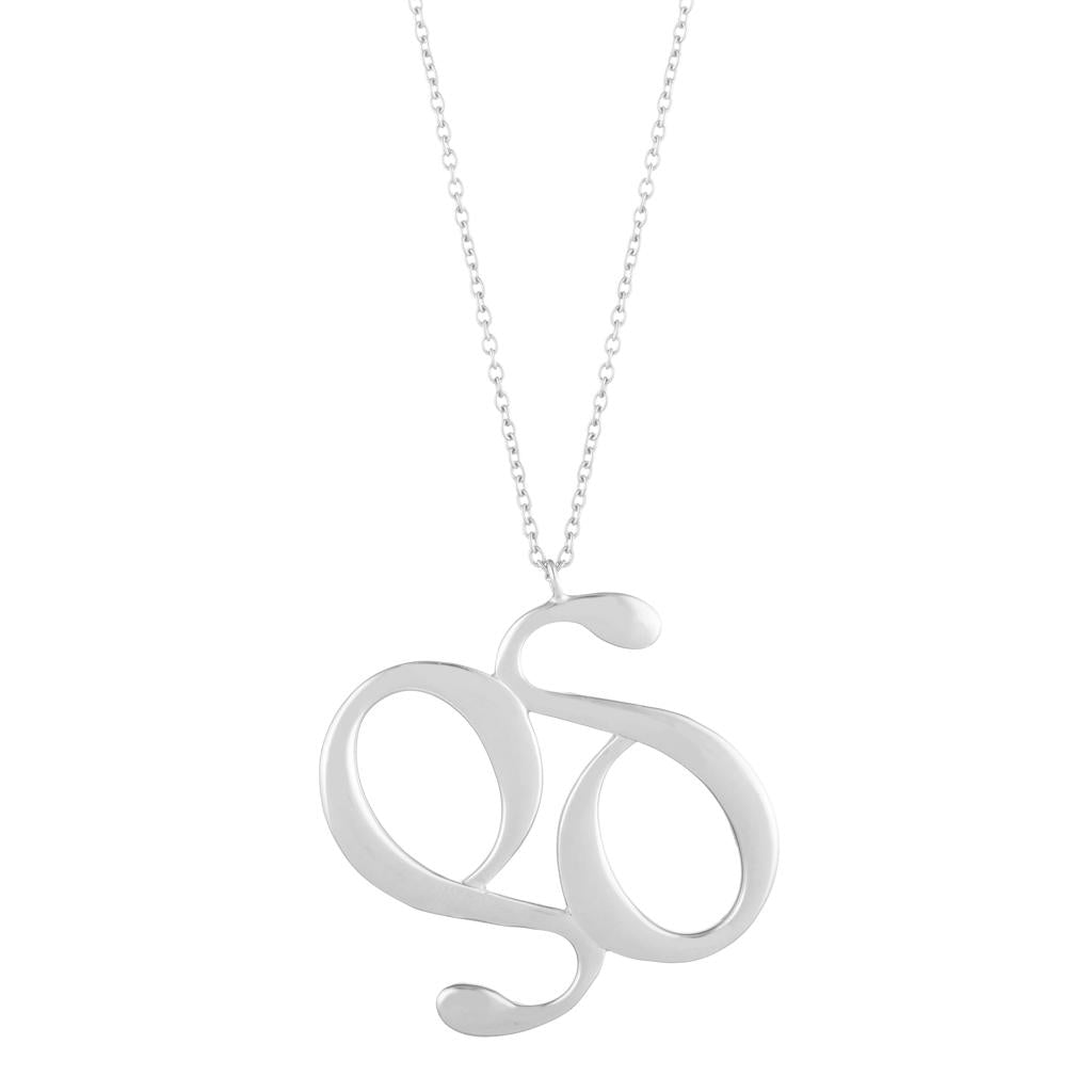 Dalasini Monogram Sterling Silver Pendant Necklace