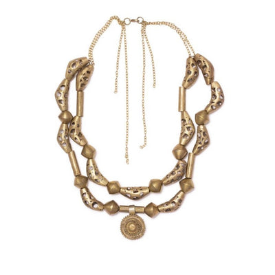 Dalasini Oyo Vintage Brass Necklace