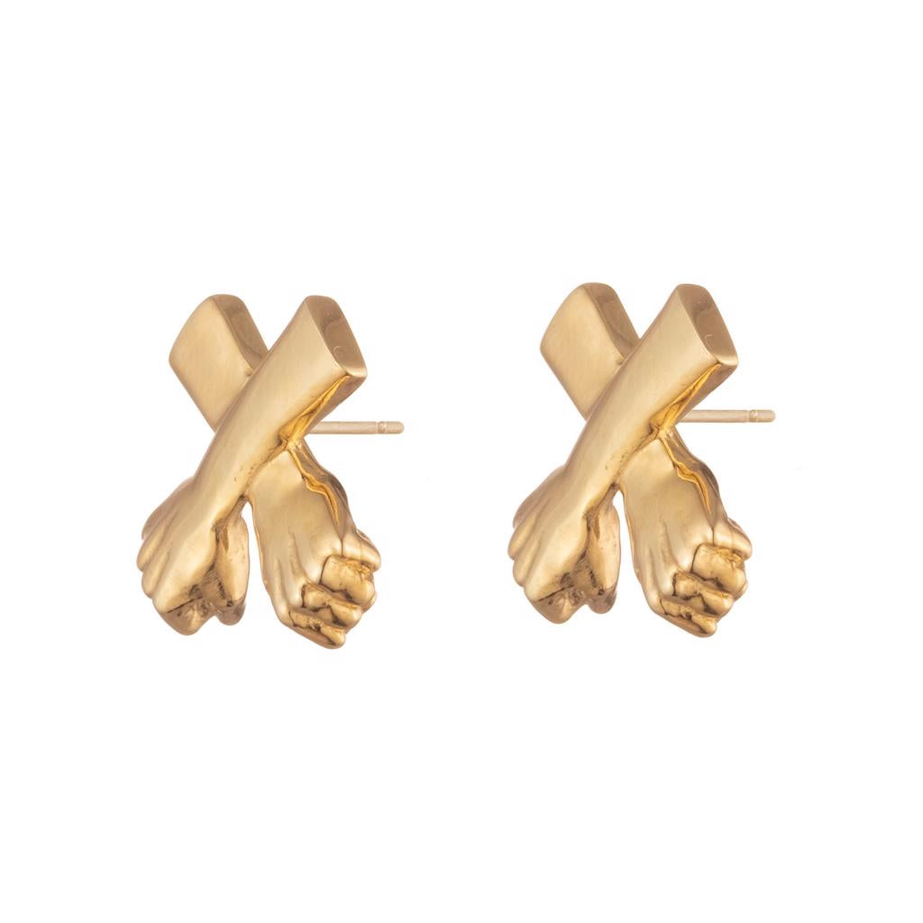 Dalasini Wakanda Gold Stud Earrings Front