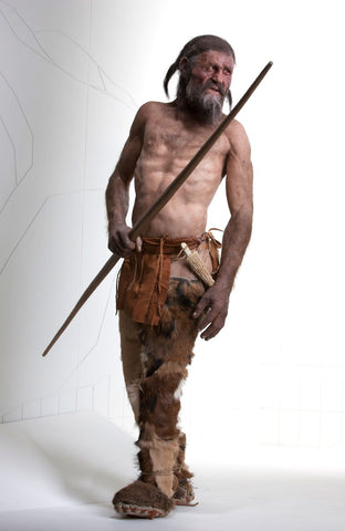 Otzi the iceman - credit National Geographic magazine