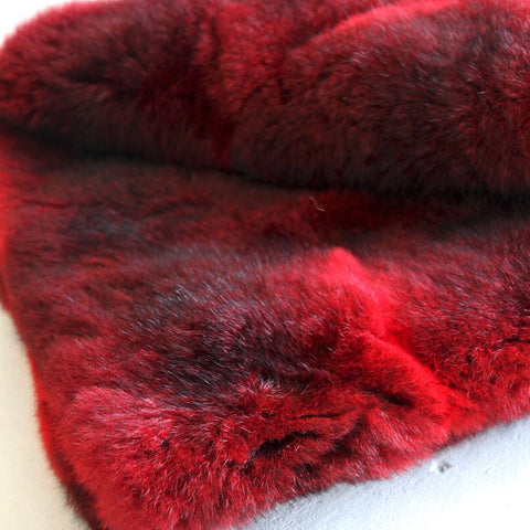 Possum Fur Throw Dyed - Polyester Suede Lining