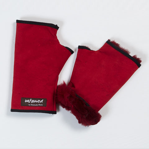 Fur Cuffed Fingerless Glove