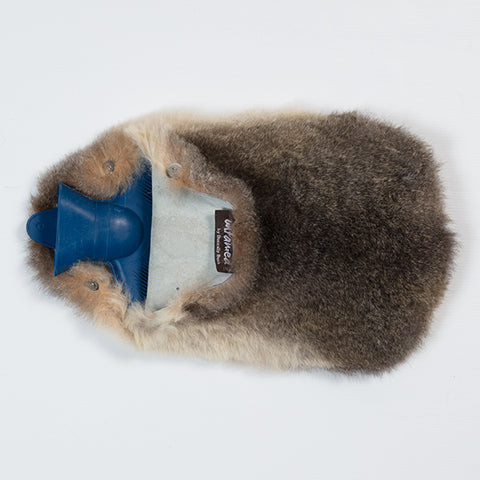Fur Hot Water Bottle Cover & Bottle