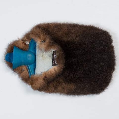 New Zealand Possum Fur Hot Water Bottle Cover Natural Brown or Gray