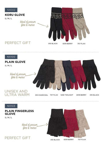 Plain Possum Gloves