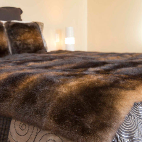Possum Fur Throw Natural Colour Range
