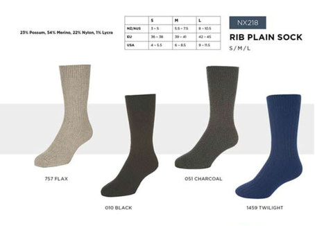 Rib Plain Socks