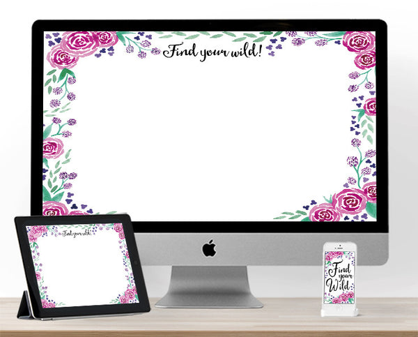 Find Your Wild August Floral Background!