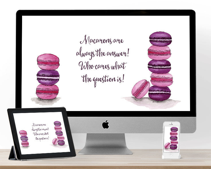 Macarons for May Backgrounds