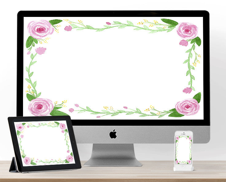 Floral June Background for your devices!