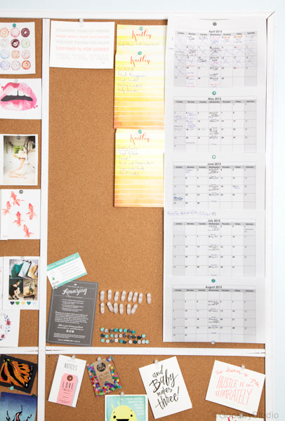Goodey Studio Pin Board Organization