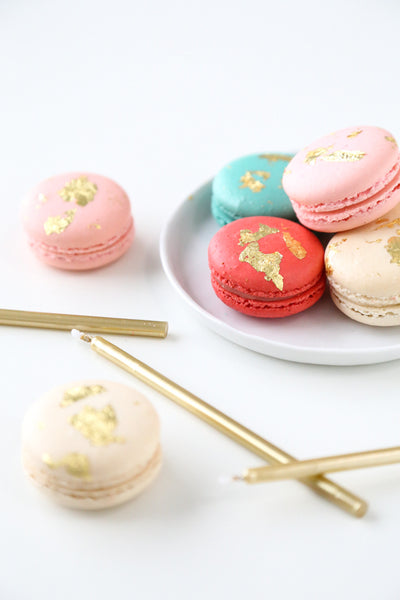 Gold Painted Macaron