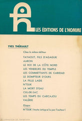 THERIAULT, YVES. Agaguk. Roman esquimau.