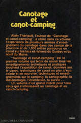 Theriault Alain. Canotage Et Canot-Camping Livre