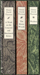 THOREAU, HENRY DAVID. The Maine Woods. A Week on the Concord and Merrimack Rivers. Civil Disobedience. Walden. Coffret: 4 volumes sous étui.