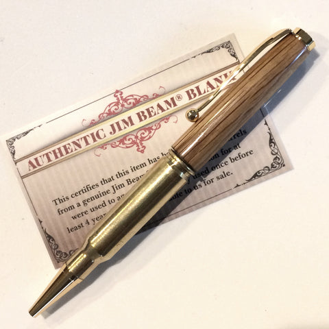 Whiskey Barrel Bullet Pen