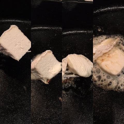 Melting stages of Adelle cheese