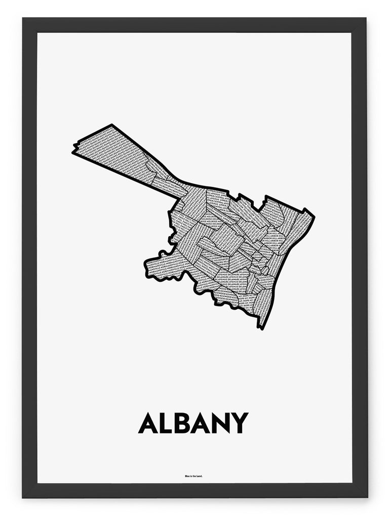 'Neighborhoods of Albany' Patchwork Map