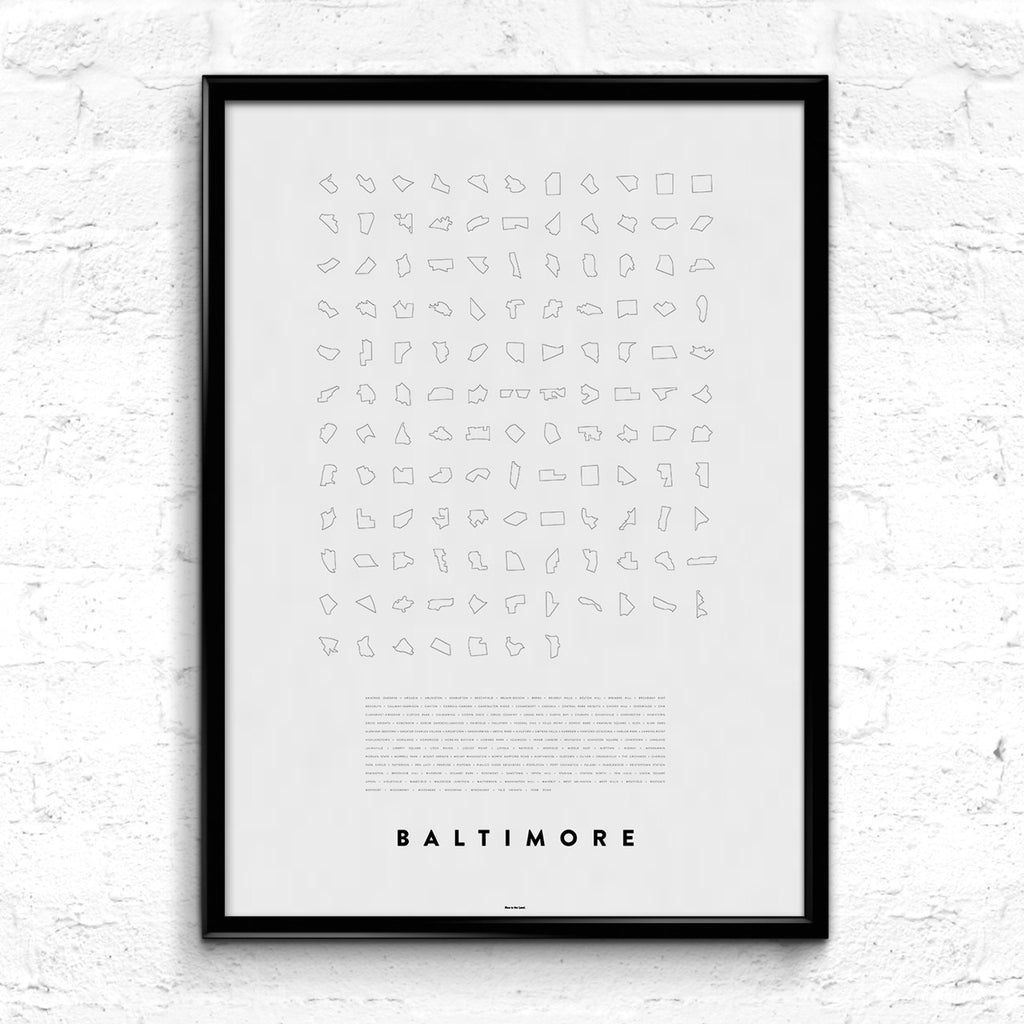 'Baltimore Line Up' Print