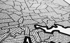 'Neighborhoods of Baltimore' Patchwork Map