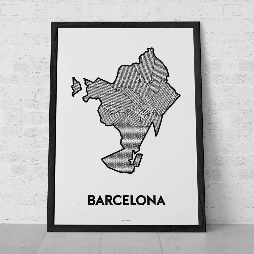 'Districts of Barcelona' Patchwork Map