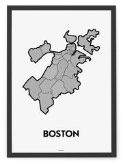 'Neighborhoods of Boston' Patchwork Map