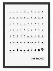 'Neighborhoods of The Bronx' Eye Chart Print