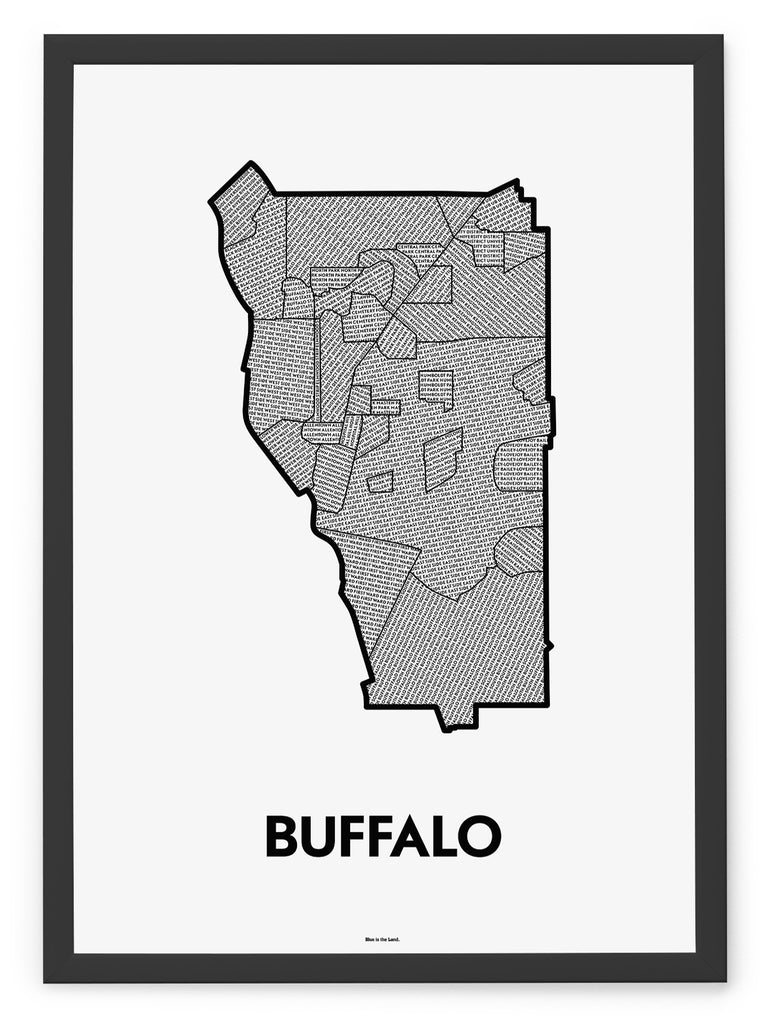 'Neighborhoods of Buffalo' Patchwork Map