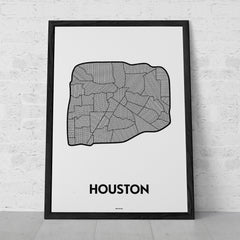 'Neighborhoods of Houston (Inside the Loop)' Patchwork Map