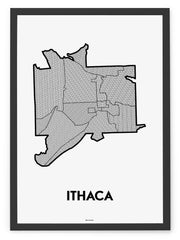'Neighborhoods of Ithaca' Patchwork Map