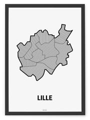 'Neighborhoods of Lille' Patchwork Map