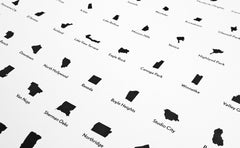 'Neighborhoods of Los Angeles' Eye Chart Print