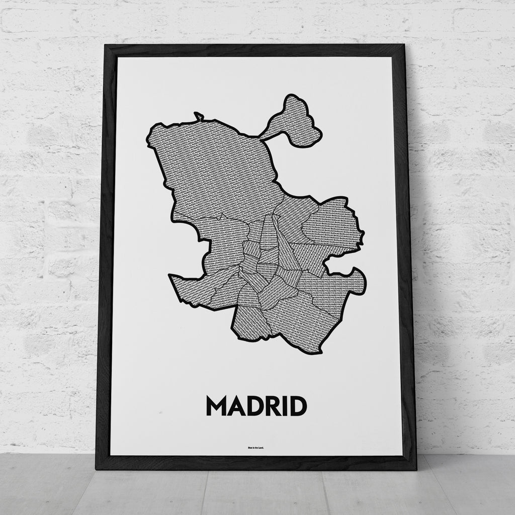 'Districts of Madrid' Patchwork Map