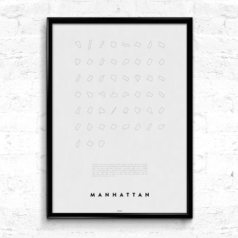 'Manhattan Line Up' Print