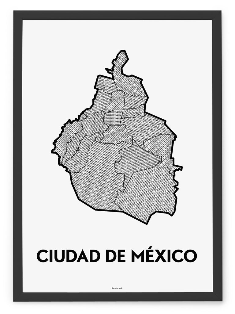 'Boroughs of Mexico City' Patchwork Map