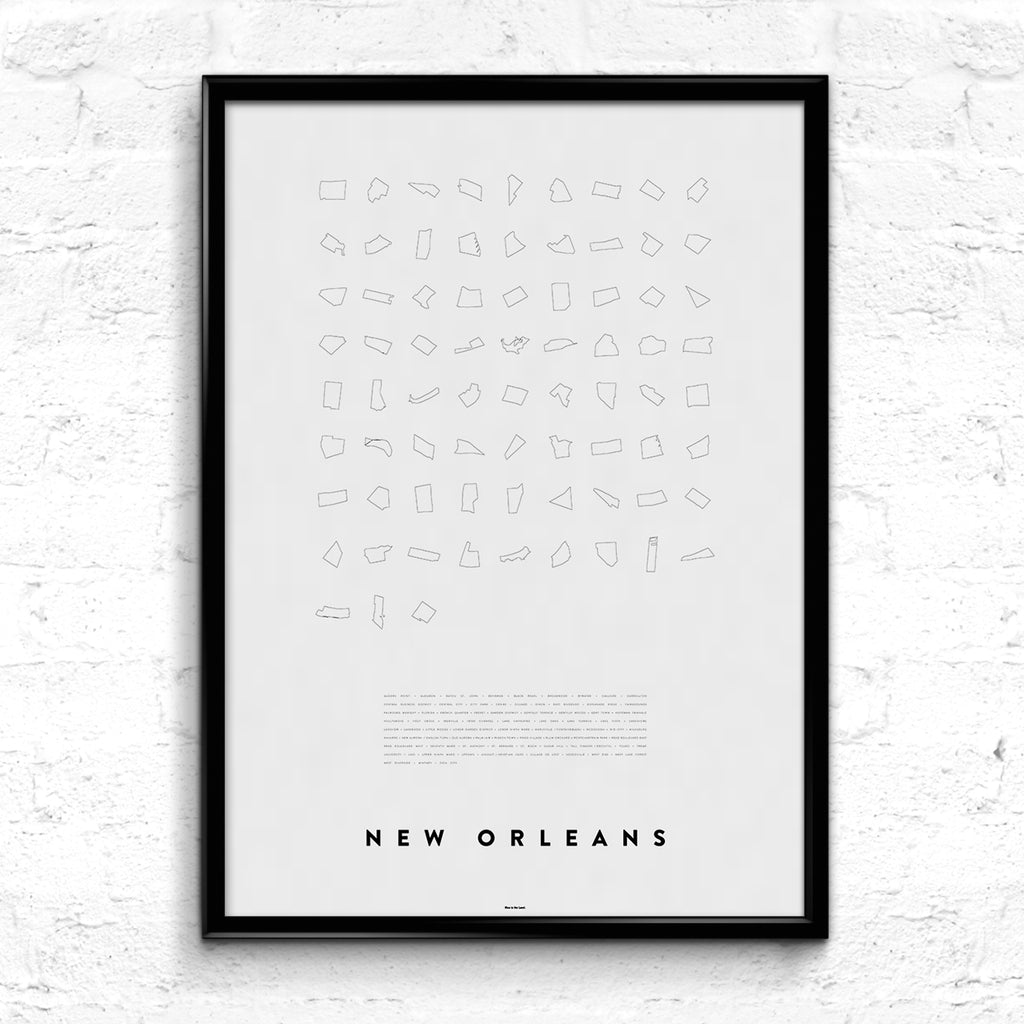 'New Orleans Line Up' Print