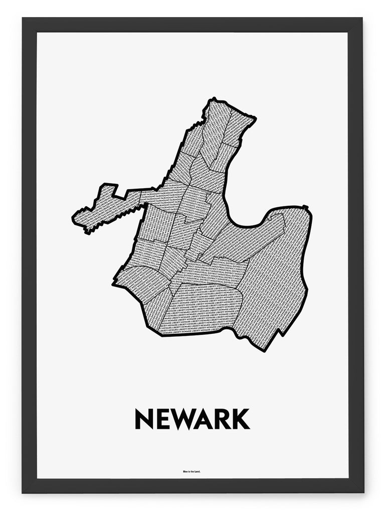 'Neighborhoods of Newark' Patchwork Map