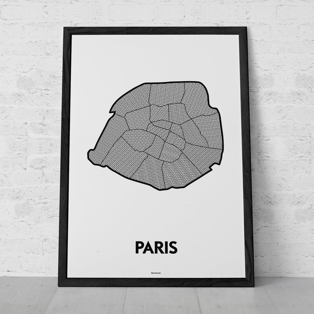 'Arrondissements of Paris' Patchwork Map